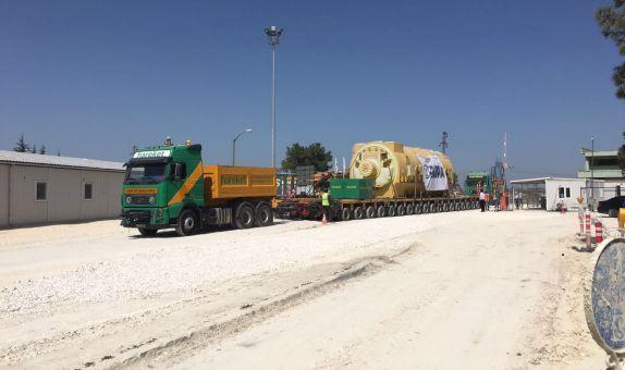 Hamitabat Santrali'nin 600 MW'ık  İlk Bloğunun Ekipmanları  Sahaya Ulaştı