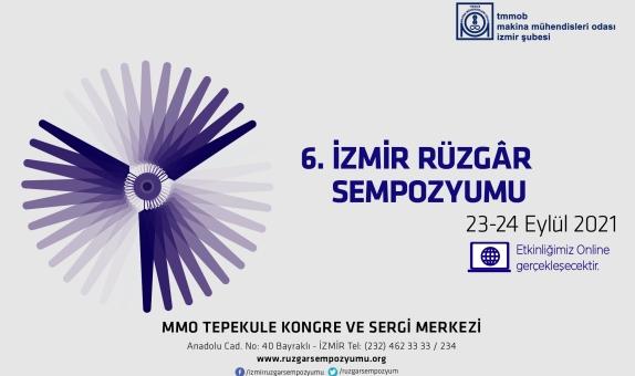 6.İzmir Rüzgar Sempozyumu, 23-24 Eylül 2021'de Gerçekleşecek
