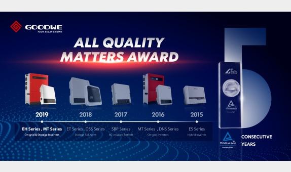 GoodWe 'All Quality Matters' Ödülünü Üst Üste 5. Kez Kazandı