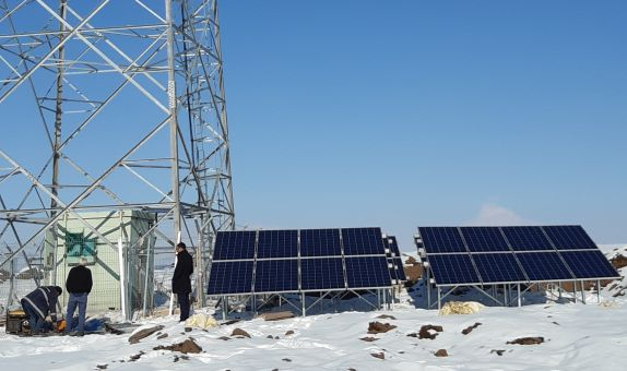 Türk Telekom'dan Ağrı'ya Güneş Enerjili Baz İstasyonu