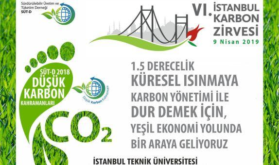 6.İstanbul Karbon Zirvesi 9 Nisan'da Düzenlenecek