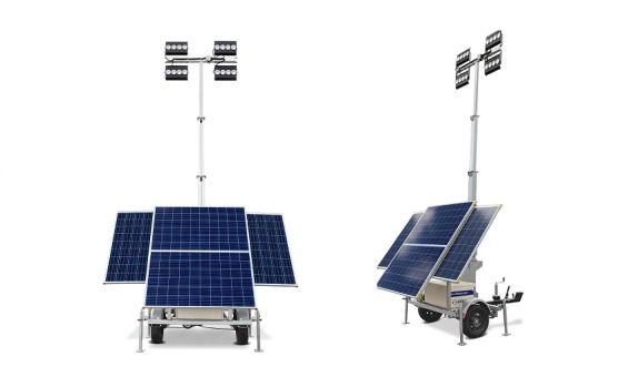 Solar Aydınlatma Kulesi Enerjisini Güneşten Alıyor class=
