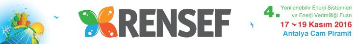 RENSEF - 4. Yenilenebilir Enerji Sistemleri ve Enerji Verimliliği Fuarı | 17-19 Kasım 2016 | Antalya Cam Piramit - Antalya