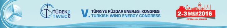 TÜREK 2016 - V. Türkiye Rüzgar Enerjisi Kongresi | 2-3 Kasım 2016 | JW Marriott, ANKARA