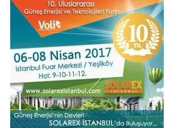 SOLAREX İstanbul | 10.Uluslararası Güneş Enerjisi ve Teknolojileri Fuarı | 6-8 Nisan 2017 İstanbul Fuar Merkezi / Yeşilköy Hol: 9-10-11-12
